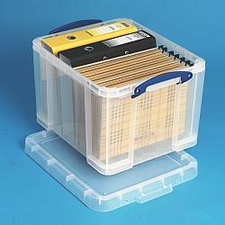 really useful box 35 liter mit deckel kunststoffbeh lter aufbewahrungsboxen plastikboxen. Black Bedroom Furniture Sets. Home Design Ideas